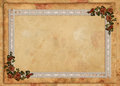 Parchment Floral Lace Background Stock Photos