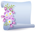 Parchment with flowers Royalty Free Stock Photo
