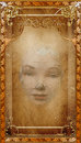 Parchment Paper Background Woman Face Royalty Free Stock Photo