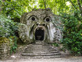 Parco dei mostri in bomarzo province of viterbo lazio italy orcus mouth sculpture at famous park the monsters also named sacro Royalty Free Stock Images