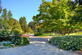 Parco del valentino in turin italy alleys and walkways among green lawns and colorful trees at botanic garden named as park Royalty Free Stock Images