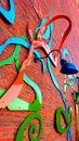 Pared artsy Imagen de archivo libre de regalías
