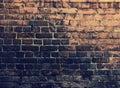 Pared de ladrillos de grunge Imagenes de archivo
