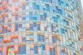 Parede do arranha-céus de Torre Agbar em Barcelona Imagem de Stock