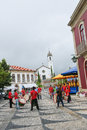 Paredes de coura in norte region portugal august folkloristic drum band the center of Stock Photography