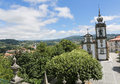 Paredes de coura in norte region portugal church of the holy spirit th century baroque Royalty Free Stock Images
