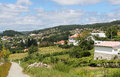 Paredes de coura in norte region portugal view on houses the countryside at Royalty Free Stock Photos