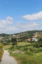 Paredes de coura in norte region portugal view on houses the countryside at Royalty Free Stock Images