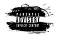 Parental advisory label Royalty Free Stock Photo