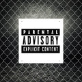 Parental advisory label printed on poster Royalty Free Stock Photo