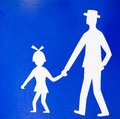 Parental guidance concept pedestrian path Royalty Free Stock Image