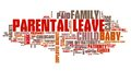 Parental leave baby care employment benefit word collage Royalty Free Stock Photo