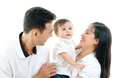 Parenthood portrait of beautiful mixed race family Stock Photography