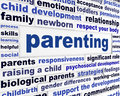 Parenting educational message design parents responsiveness learning words background Royalty Free Stock Photos