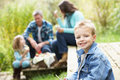 Parents And Children Having Picnic Royalty Free Stock Photos