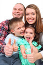 Parents and children show gesture ok Royalty Free Stock Photography