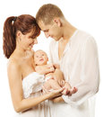 Parents holding newborn baby. Family concept Royalty Free Stock Photo