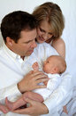Parents with newborn baby Royalty Free Stock Photo