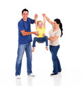 Parents playing with daughter Royalty Free Stock Photography