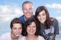 Parents with teenagers portrait of happy Royalty Free Stock Images