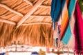 Pareo under sunshade Royalty Free Stock Photo