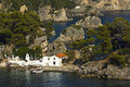 Parga bay in greece panagia isle at near syvota ionian sea Royalty Free Stock Photo