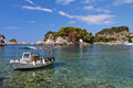 Parga bay in greece panagia isle at near syvota ionian sea Royalty Free Stock Photography