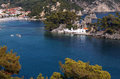 Parga bay in greece town and port near syvota ionian sea Royalty Free Stock Images