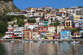 Parga city in greece town and port near syvota ionian sea Stock Image