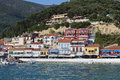 Parga town in greece and port near syvota ionian sea Royalty Free Stock Image