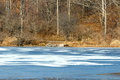 Parially Frozen Pond