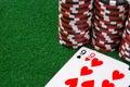 Paridade dos nines e das algumas microplaquetas de póquer Fotografia de Stock Royalty Free