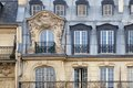 Parigi art nouveau architecture detail Fotografia Stock