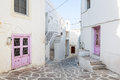 Parikia paros island the beautiful village of in the of greece Stock Photography