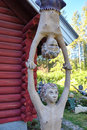 Parikkala, Finland - August 21, 2015: Sculptures by ITE-artist Veijo Ronkkonen in his sculpture park Parikkalan