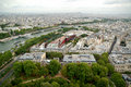 Paris aerial panorama from eiffel tower Stock Image