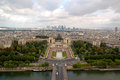 Paris aerial panorama trocadero from eiffel tower Royalty Free Stock Photo