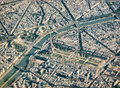 Paris aerial view with Eiffel Tower Royalty Free Stock Photo