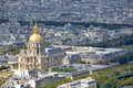 Paris aerial view/Hotel des Invalides Royalty Free Stock Images