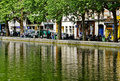 Paris, Along Canal Saint-Martin Stock Photo
