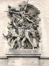 Paris - Arc de Triomphe [2] Royalty Free Stock Photo