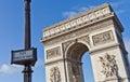 Paris - Arc de Triomphe Royalty Free Stock Photo