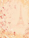 Paris background with the eiffel tower france Royalty Free Stock Photo