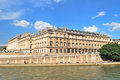 Paris beautiful seine embankment france very river with historic buildings in a sunny summer day Stock Photo