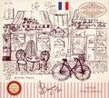 Paris bistro Royalty Free Stock Photo