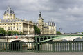 Paris boat river old city cities attractions culture ship bridge Royalty Free Stock Images