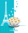 Paris cards as symbol love and romance travel Stock Photos