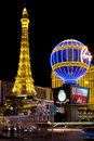 Paris Casino at night Royalty Free Stock Photo