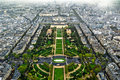 Paris center aerial view Royalty Free Stock Photos