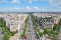 Paris champs elysees view of the from the arc de triomphe Royalty Free Stock Image